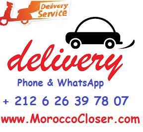 Delivery Casablanca Marrakech RabatAgadir Tiznit, Béni Mellal Khénifra Ouzoud, Mohammédia El Jadida, Fès Meknès Ifrane, Laâyoune Dakhla, Marrakech Essaouira Safi, Ouarzazate Errachidia, Oujda Saïdia Nador, Rabat Salé Kénitra, Tan-Tan Guelmim, Tanger Tétouan Al Hoceïma