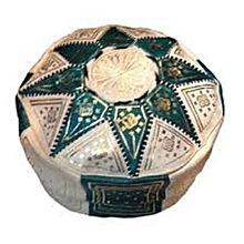 white ethnic decoration Beanbag star Moroccan Moroccan Pouf genuine leather Oriental