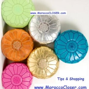 Pouf Leather Color Price