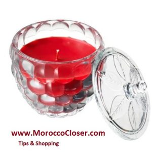 scented candle Raspberry