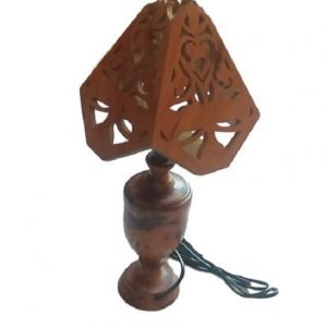 Moroccan handcrafted wooden lampshade