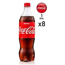 Lemonade Soft Drink Coca Cola Pack 8x1L