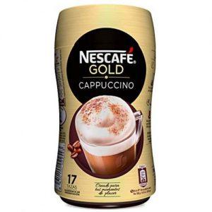 A base de Café soluble de haute qualité +Lait écrémé+sucre poudre.