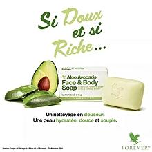 Soap body face avocado butter light scent emon flowers