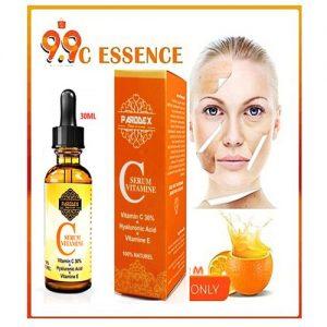 Vitamine C E acide hyaluronique Collagène UN MIRACLE DANS UNE BOUTEILLE ATTEINDRE LA PEAU SANS DÉFAUT & ÉCLAIRANTE LE NOUVEAU MEILLEUR AMOUR DE VOTRE PEAU CE PRODUIT EST 100% NATUREL. 30ML pour effacer les cicatrices/rides/taches/signes de vieillesse supplément actif anti-âge base parfaite pour le maquillage