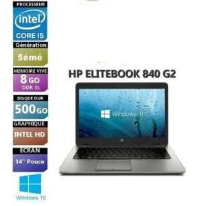 """Hp EliteBook 840 G2 Core i5 5eme 8 RAM 500GB HHD14"""" remis a neuf"""