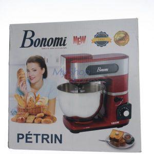 Bonomi Robot Petrin Pâtissier 1800 W + Fouet, Batteur et Crochet en acier inoxydable