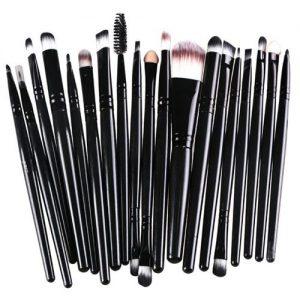 """Type: Set de pinceaux de maquillage Pays / région de fabrication: Chine Sexe: unisexe Taille de l'emballage: 18 * 13 * 2 cm / 7,09 * 5,12 * 0,79 """" Type d'évier: tous les types de peau Quantité: 20pcs"""