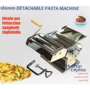 Bomann Machine à pâtes manuelle detachable acier chromé - 180mm