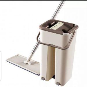 autonettoyant vadrouille magique scratch mop avec seau et 5 tampon