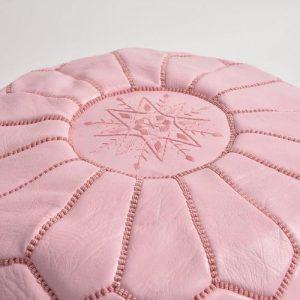 pouf rose pale