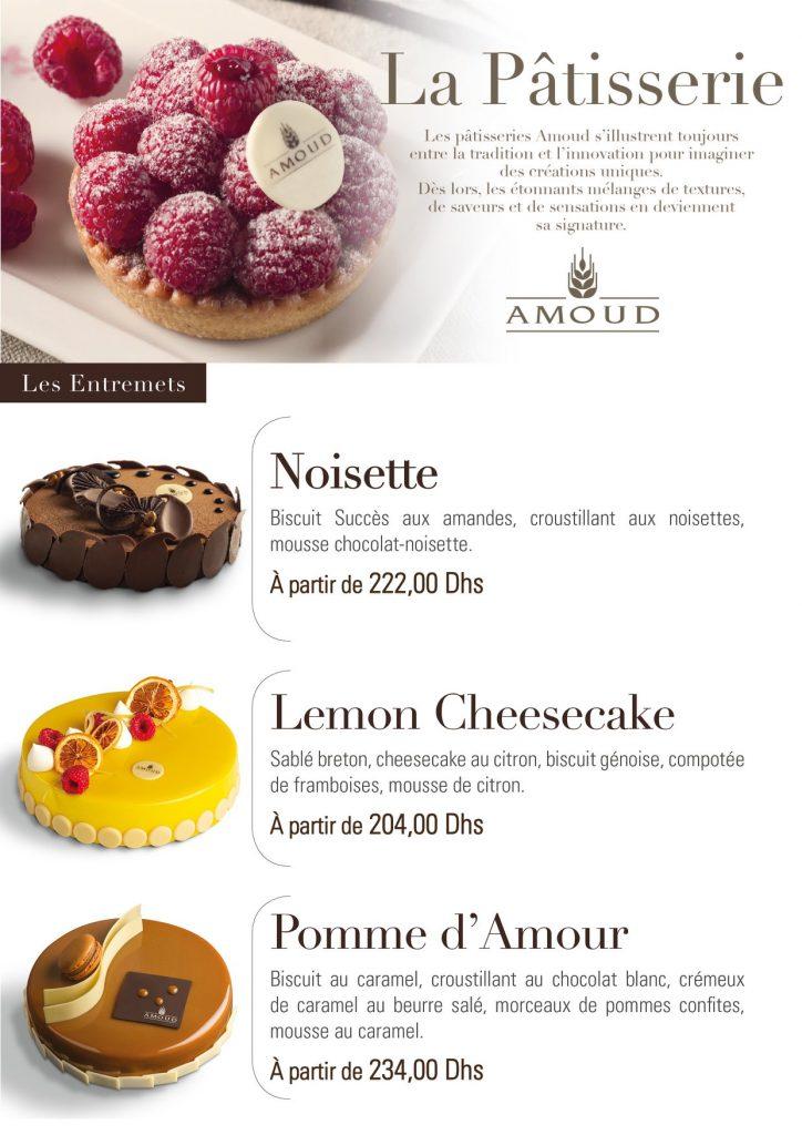 Noisette Lemon Cheese cake Pomme d'amour
