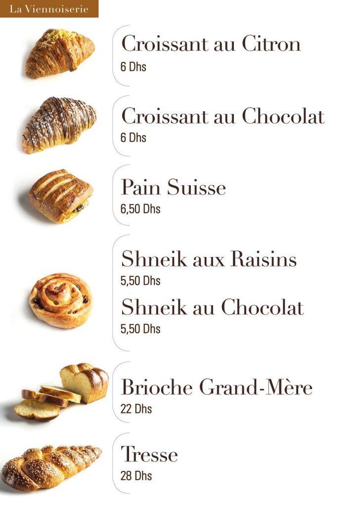 Crossant au chocolat au citron pain suisse shneik aux raisins au chocolat  bioche tresse